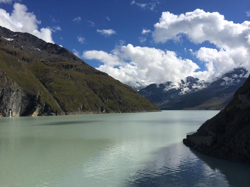 Der Staudamm Cleuson im Vallée de Nendaz: Der Staudamm Cleuson im Vallée de Nendaz