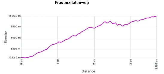 Profil de dénivelé: Frauenzitatenweg - Unterbäch - Pfammattbrücke - Brandalp